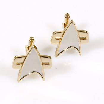 Cufflinks Voyager Communicator Star Trek