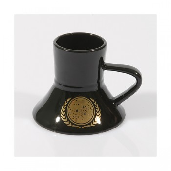 Warp Speed Tasse UFP - United Federation of Planets black - 24-Karat
