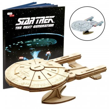 Incredibuilds Wood Model U.S.S. Enterprise NCC-1701-D Star Trek