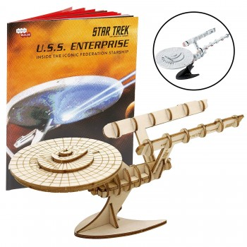 Incredibuilds Wood Model U.S.S. Enterprise NCC-1701 Star Trek