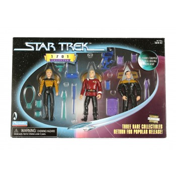 Action Figure Set Picard, Yar und Barclay Star Trek