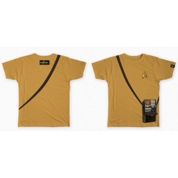 Star Trek 50 Anniversary Tricorder Shirt Gold Shirt