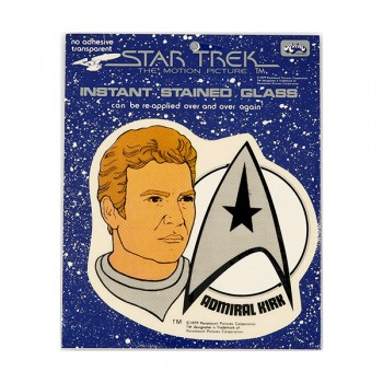 Window Picture Sticker Admiral Kirk - Star Trek Motion Picture 1979