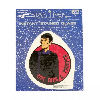 Window Picture Sticker Spock Live Long & Prosper - Star Trek Motion Picture