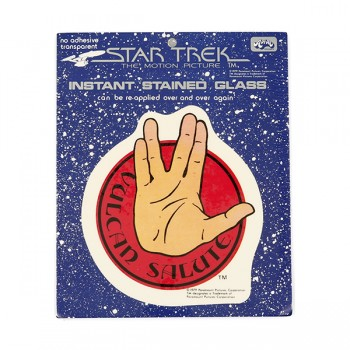Window Picture Spock Vulcan Salute - Star Trek Motion Picture