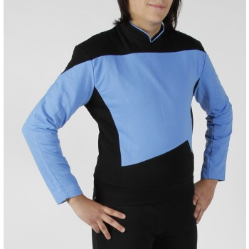 Next Generation Uniform Shirt - Science Blue - super deluxe Cotton - Star Trek