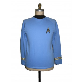 Uniform Shirt - Science Blue - Super deluxe Cotton - Star Trek TOS Classic