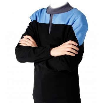 Voyager Uniform Shirt - Science Blue S - Cotton - Star Trek