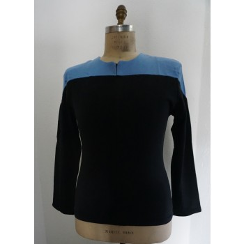 Voyager Uniform Shirt - Science Blue L - Cotton - Star Trek