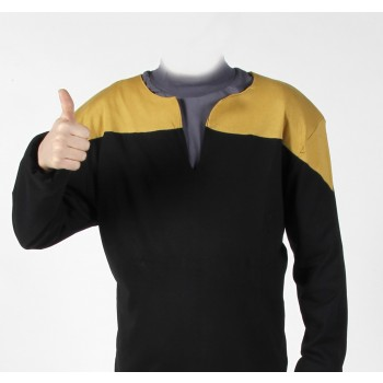 Voyager Uniform Shirt - Engineering Gold L - Cotton - Star Trek