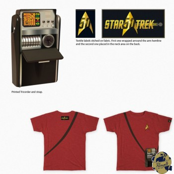 Star Trek 50 Anniversary  Tricorder rot Girl Shirt